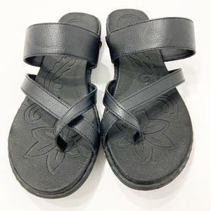 B.O.C Wrap Toe Strappy Black Comfort Sandals Sz. 9
